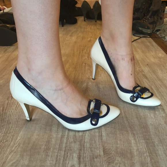 Bandolino Sailor Nautical Heels White